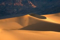 Sand dunes, sunrise, Death Valley